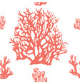coral seamless pattern living coral vector image vector image