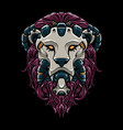 cyber lion head vector image