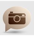 Digital photo camera sign Brown gradient icon on vector image vector image