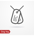 Dog tag icon vector image vector image