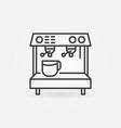 espresso machine line concept icon vector image