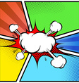Explosion cloud abstract comic book style frame vector image vector image
