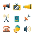 Flat communication business information media web vector image vector image