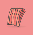 Flat salmon or trout fillet icon on pink
