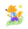 Fox runs vector image