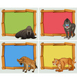 Frame design with wild animals vector image vector image
