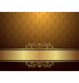 Golden Background With Luxury Design vector image