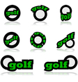 Golf icons vector image vector image
