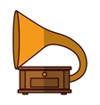 gramophone music icon image vector image