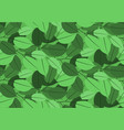 green leaves pattern seamless backdrop vector image vector image