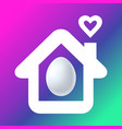 happy easter stay home icon vector image
