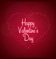 happy valentines day heart on red background vector image