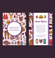 hipster doodle icons card flyer vector image vector image
