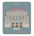hungarian state opera house in budapest vector image