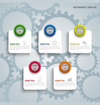 info graphic with colorful gears and labels vector image vector image