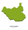 Isometric map of South Sudan detailed vector image vector image