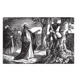 jesus speaks to zacchaeus the tax collector vector image