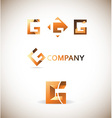 Letter g logo icon set vector image vector image