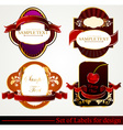 Luxury Label Set vector image vector image