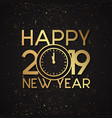 luxury new year 2019 vector image vector image