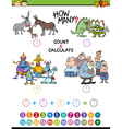 math educational activity for kids vector image vector image