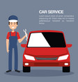 mechanic car service icons vector image vector image