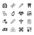 Medical icons on white background vector image vector image