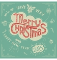Merry Christmas doodle greeting card vector image vector image