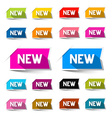 New Colorful Paper Labels - Stickers Set Isolated vector image vector image