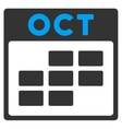 October Flat Icon vector image