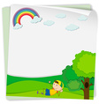 Paper design with boy in the park vector image vector image