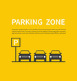 parking zone sign with car black silhouette icons vector image vector image