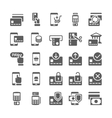 Pay online and mobile banking icons vector image vector image