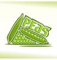 peas still life vector image vector image