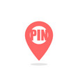 pin - icon location pin map pin icon red color vector image vector image
