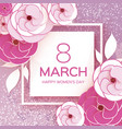 pink white 8 march happy women s mother s day vector image vector image