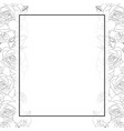 rose and iris flower outline banner card border vector image vector image