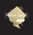sale golden banner design template vector image vector image