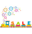 Sale train vector image