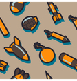 seamless abstract background with bombs vector image vector image