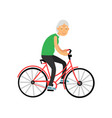 senior woman riding a bicycle pensioner people vector image