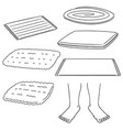 set of foot wipe vector image vector image
