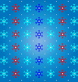 Snow and snowflake on blue pattern background vector image