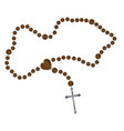 the rosary beads vector image