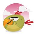toon exotic bird vector image vector image