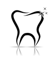 Tooth as a dental symbol vector image vector image
