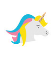 unicorn fantasy horse cartoon vector image vector image