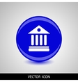 University Icon Isolated on blue Background vector image vector image