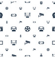 video icons pattern seamless white background vector image vector image