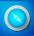 white electric wire plug and socket icon isolated vector image vector image